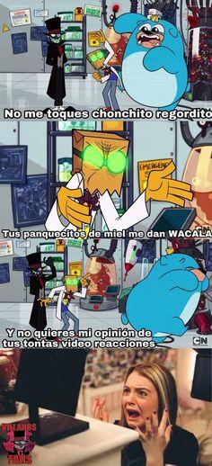 Ya weee :'v Funny Spanish Memes, Spanish Humor, Cartoon Network, Dr Flug, Villainous Cartoon, Cartoon Gifs, Star Vs The Forces, Force Of Evil, My Hero Academia Manga