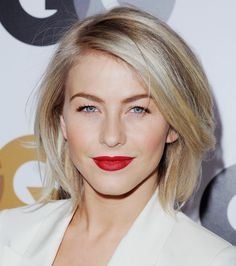Julianne Hough looks much more chic and sophisticated since she cut her long hair. This just below the chin cut is a classic look that will never go out of style. via StyleList