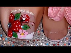 Manicure And Pedicure, Pedicures, Aycrlic Nails, Toe Nail Designs, Lily, Nice Nails, Makeup Ideas, Designed Nails, Pretty Nails