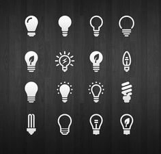 A cool set of 16 light bulb icons provided as Photoshop vector shapes. Free PSD designed by Azis Hertanto. Web Design, Flat Design Icons, Icon Design, Logo Design, Graphic Design, Flat Icons, Design Layouts, Vector Shapes, Design Thinking