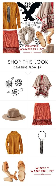 """Winter Wanderlust with American Eagle: Contest Entry"" by virtual-closet-collector ❤ liked on Polyvore featuring American Eagle Outfitters"