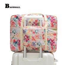 816505e1cbc8 BAGSMALL Waterproof Travel Duffel Women Foldable Travel Bags Weekend  Portable Garment Organizer Luggage Bag Put on Suitcase