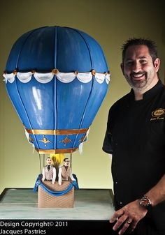 Showstoppers Wedding Cakes Hot Air Balloon Cake, One Balloon, Fancy Cakes, Cute Cakes, Flying Balloon, Gravity Defying Cake, Fondant, Cake Gallery, Novelty Cakes