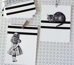 Alice in Wonderland Gifts Tags - Twelve Wonderful Designs. by tucker reece, via Etsy.