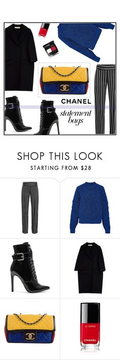 """""""Chanel statement"""" by ceci4diplomazy ❤ liked on Polyvore featuring Haider Ackermann, Isabel Marant, Danielle Guizio, Marni, Chanel and statementbags"""