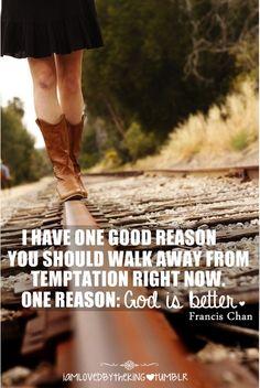 Walk away...God is better.
