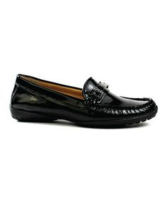 Take a look at this Black Patent Abby Loafer by VANELi on #zulily today!