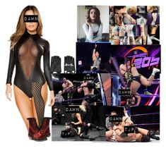"""💵 Dawn Dibiase 💵- 205 Live ⚫️ Dawn Vs TJP 3 Out Of 2 Falls Match"" by iron-maiden-amy ❤ liked on Polyvore featuring WWE, MeMoi, Karl Lagerfeld, wweoc, wweattire and wweocattire"