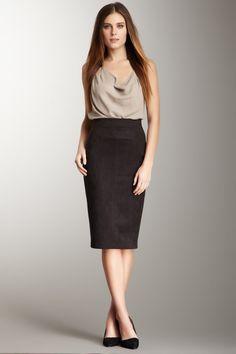 Robert Rodriguez high-waisted pencil skirt
