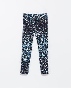 Image 8 of TECHNICAL PRINT FABRIC TROUSERS from Zara