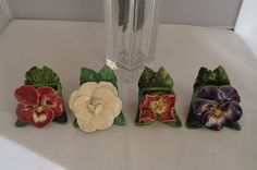 20% Off  Vintage Floral Placecards Each Handmade with a Different Colored Flower. Today is the last day of our sale. Use the coupon code 4152016 and you get free shipping.  The price after the coupon becomes  $56.00. Plus you get free shipping which must be shipped in a box so that it arrives safely. Have a great vintage day. This set is very special. I purchased it an estate sale. The placeholders are adorable and a treasure you can use for years. Have a great vintage day and make sure to…