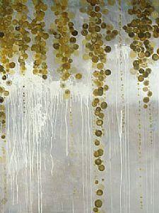 Gold Swirls - 30 x 40 - Print on canvas - Leftbank Art