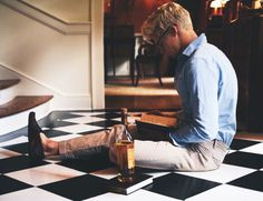 "Eric sat in the middle of the hallway with a book in his lap and a bottle of whiskey beside him. Was he seriously reading drunk? Eric glanced up at the sound of my approaching footsteps. ""What are you doing?"" I asked him. He calmly took a sip of whiskey. ""I need liquid courage to finish this book. Can you believe she assigned us a hundred pages to annotate?"" I shook my head. ""She assigned us fifty last night, but you decided to not do your homework, and she assigned us with another fifty…"