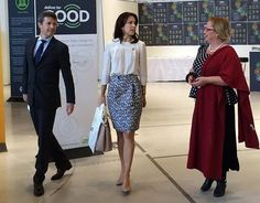 """Wednesday morning, Crown Prince Frederik and Crown Princess Mary arrived for Women Deliver Global Conference at the Bella Center. Crown Prince gives a speech about the importance of physical activity and allowing men and women equal access to take part in sport. Crown Princess, together with CEO for The Mary Foundation Helle Østergaard, met with 15 young to talk about the conference, outputs and contributions. Dutch Queen Maxima and Princess Mabel attended the """"Women Deliver Conference"""" in…"""