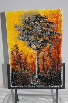 Glass painting by Dianne Taylor