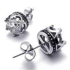 crown earrings...