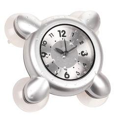 Boomyours Horloge et thermomètre numériques étanches avec ventouse ...