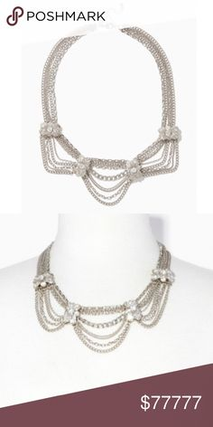"""•COMING SOON• Drape Chain Necklace *+*+COMING SOON!+*+*  By Charming Charlie  -Dramatic Drape Chain Necklace •Plated base metal  •Necklace closure: lobster claw •Measurements- necklace L: 22"""" - 2"""" extension Charming Charlie Jewelry Necklaces"""