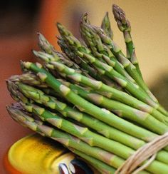 Asparagus with Romano Cheese and Pine Nuts