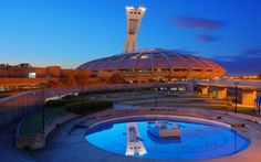 Olympic Stadium into the blue night | Montreal, Quebec, Ca… | Flickr
