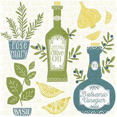 Olive Oil Illustration by Maeve Parker for 2015 Calendar. www.maeveparker.com