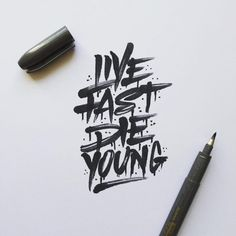 LFDY – Live Fast Die young in Typography