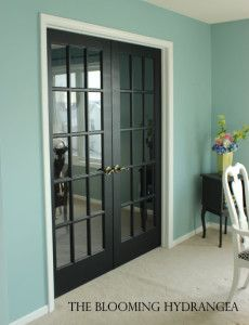 Painting Interior Pantry Doors Black | few black doors in our home the french doors and also the insides of ...