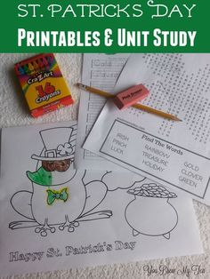 Check out our great St. Patrick& Day Printables and complete unit study on this fun green holiday! Great ideas for all subjects and free printables! Fun Games For Kids, Activities For Kids, Holiday Activities, St Patrick's Day Crafts, Kids Crafts, Free Homeschool Curriculum, Cocktails, How To Start Homeschooling, Spring Crafts For Kids