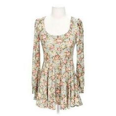 Vintage Style Floral Tunic Great condition. A long soft knit tunic. Tops Tunics