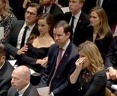 Coyne and Barbara embraced each other during the eulogy as they sat next to her twin sister Jenna Bush Hager and her husband Henry
