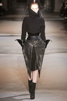 Haider Ackermann, I see a transformed Loin cloth in the skirt