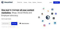 Storychief. Un outil central pour gérer tous ses contenus marketing Web 2.0, Now Watch, Central, Blog, Social Media, Content, Content Marketing, Online Marketing, Press Release