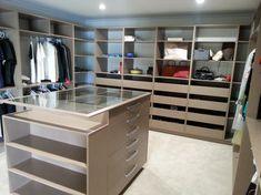 Walk In Robe, Walk In Closet, Bedroom Furniture, Drawers, Walking, Island, Luxury, Glass, Master Bedroom