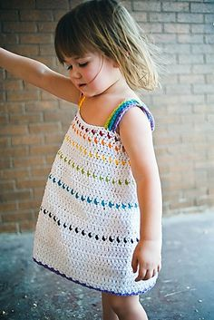 crochet girl's dress tiered sundress pattern by Sarah Lora | Ravelry