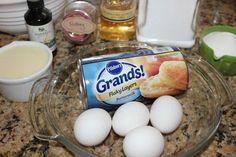get it! Eggnog Bread Pudding, Brioche Bread Pudding, Pillsbury, Bread Recipes, Rum, Glaze, Sweets, Breakfast, Breads