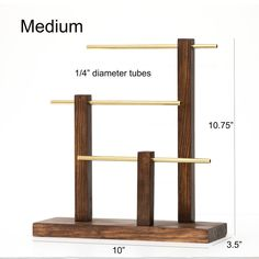 Jewelry Organizer Stand, Jewelry Stand, Jewelry Organization, Jewelry Box, Diy Necklace Holder, Stain On Pine, Hanging Necklaces, Metal Bar, Diy Projects To Try