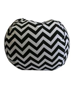 Take a look at this Black & White Zigzag Beanbag on zulily today!