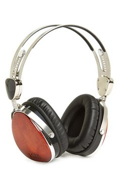 LSTN 'Troubador' Cherry Wood Headphones Rich cherry wood—reclaimed from furniture and flooring manufacturers—adds an exotic and natural warmth to high-quality headphones engineered for a superior audio experience by integrating gold-plated connections and balanced sound. A metal band provides exceptional durability and style, and nylon-wrapped cables prevent tangling. In addition, for each pair sold, LSTN helps restore hearing to a ...