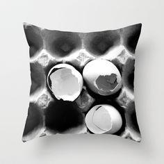 eggs Throw Pillow by serena wilson stubson - $20.00
