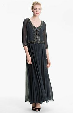 Patra Sequined Chiffon Jacket Dress  Discount Mother of the Bride ...