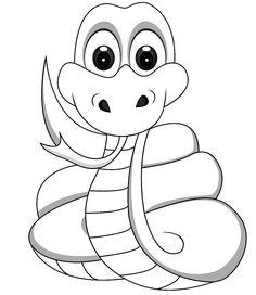 schlange, freund von louis | malvorlagen tiere, malvorlagen für kinder, malvorlagen