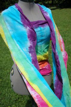 a03212a4987 6y Horizontal RAINBOW tie dye Cotton Gauze Baby by graceeugene Moby Wrap
