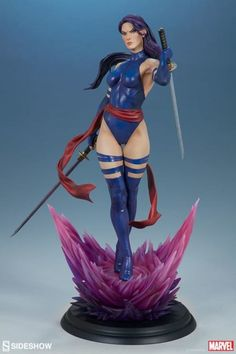 Marvel Premium Format Psylocke From Sideshow Toy