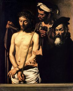 Commission your favorite Michelangelo Merisi da Caravaggio oil paintings from thousands of available paintings. All Michelangelo Merisi da Caravaggio paintings are hand painted and include a money-back guarantee. Baroque Painting, Baroque Art, Italian Baroque, Chiaroscuro, Image Du Christ, Michelangelo Caravaggio, Pontius Pilate, Homo, Italian Artist