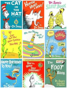 """Dr. Seuss books--One of my favorites is """"Oh- the Places You'll Go!"""" A sweet friend gave me this as a gift for graduation and I like to do the same for other's...it's the small things in life"""
