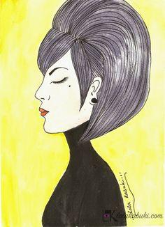 RETRATOS DE FAMILIA   Lola Kabuki  #love #art #watercolor #paintings #illustration