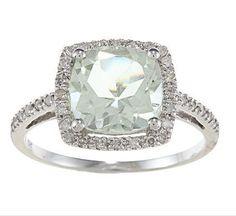 10k White Gold Cushion Green Amethyst and Diamond Ring (1/4 TDW) - size 5 Designer-Diamonds.net,http://www.amazon.com/dp/B008KPJTF4/ref=cm_sw_r_pi_dp_8tvCrb46B5A540AA