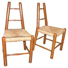 1stdibs - Pair of Country Chairs in the Style of Charlotte Perriand explore items from 1,700  global dealers at 1stdibs.com