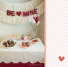 cute Valentine's table :)
