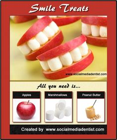 This looks fun - apple, marshmallow, and peanut butter treat.  www.drboyd.com